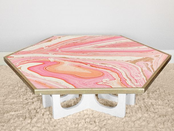 Coffee table makeover: AFTER