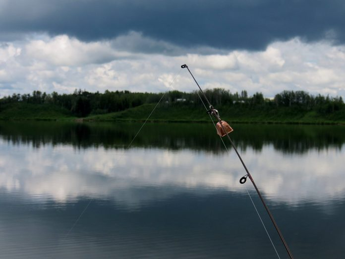 Fishing at Dickson Pond, Alberta