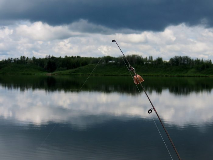 Fishing at Dickson Pond, Alberta