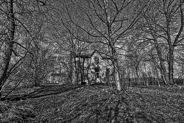 Abandoned house in rural Ontario