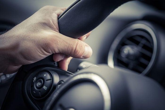 Hands on steering wheel