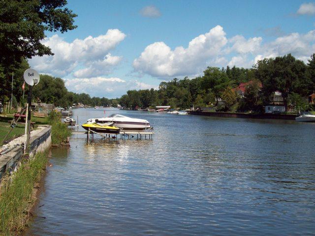 Nottawasaga River in Wasaga Beach, Ontario