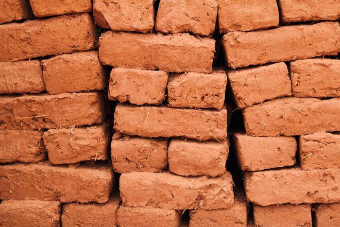 Adobe bricks drying in the sun