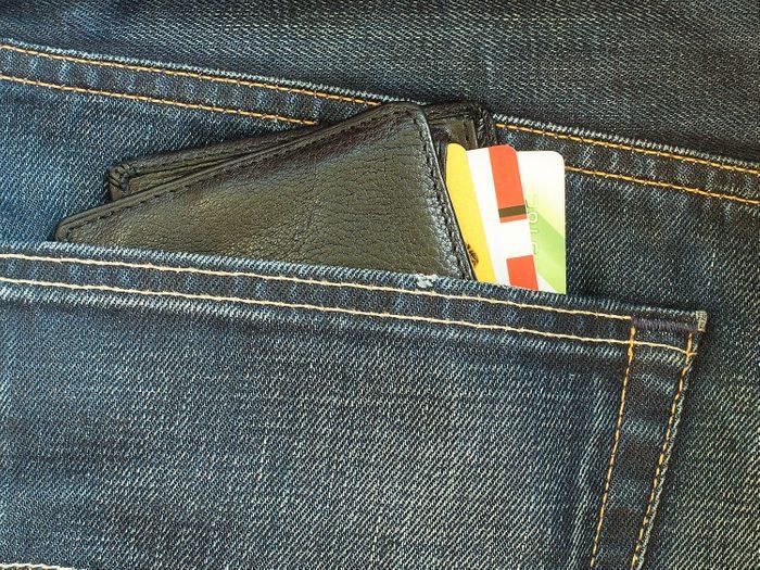 Wallet in back pocket
