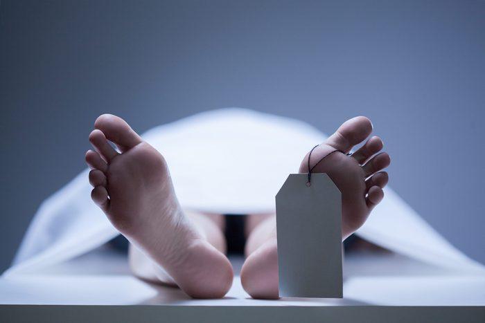 Dead body at the morgue