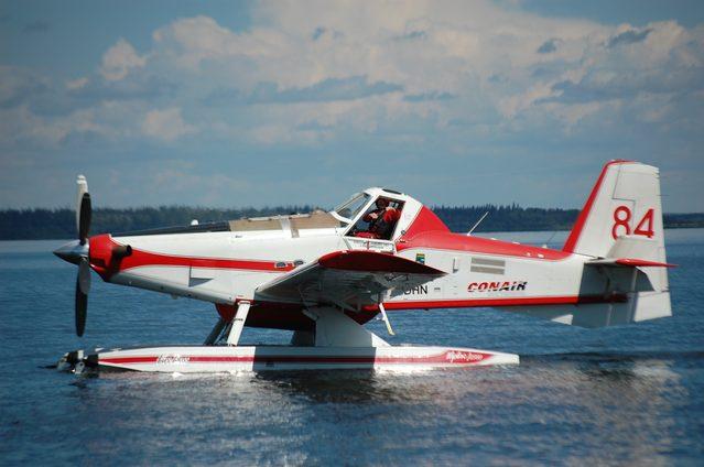 Water bomber pilot at Lac La Biche
