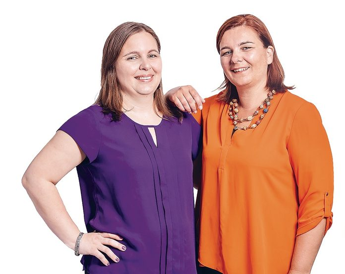 Abigail Sampson (left) and Nicola Topsom of the Floriana Wedding Project