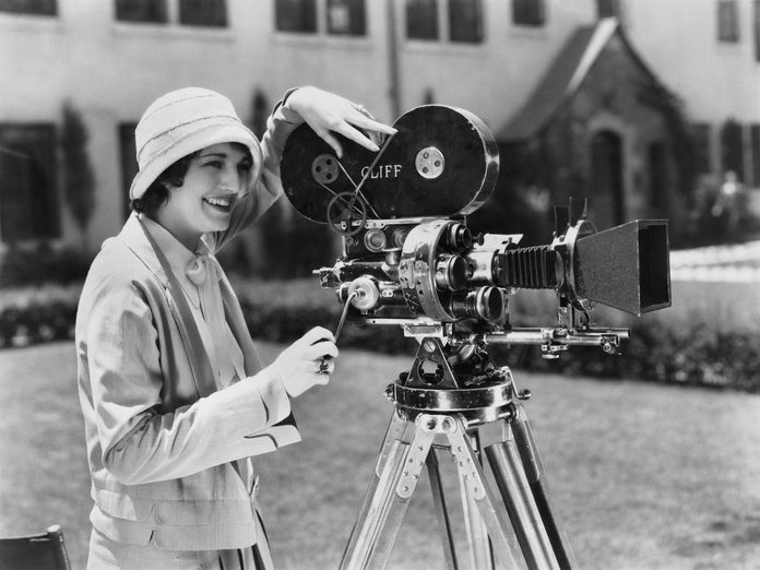 1920s actress with old camera