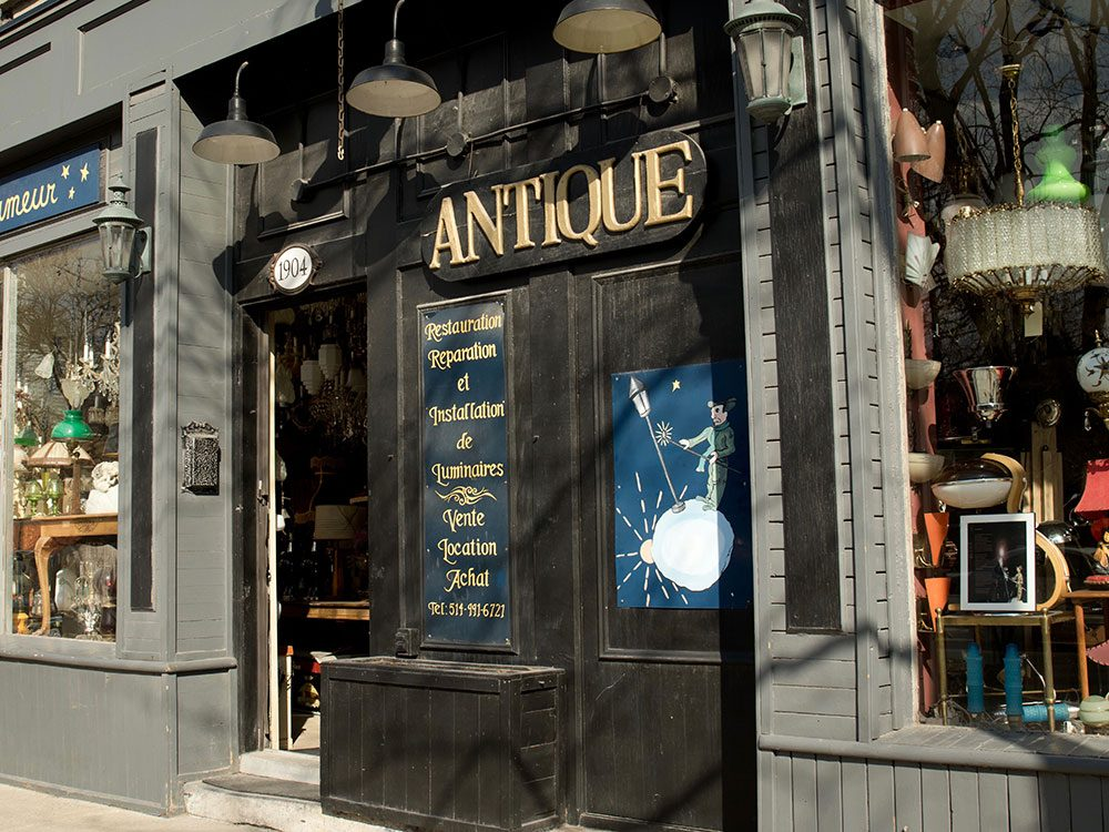 Antique store in Montreal