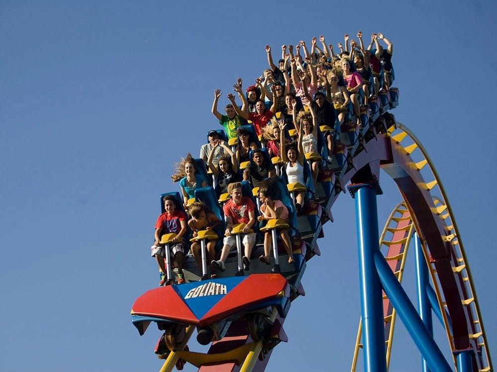 """Goliath"" ride at La Ronde theme park in Montreal"