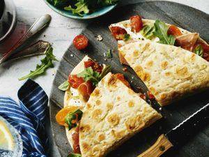 Roasted Tomato, Arugula and Prosciutto Piadina Sandwich