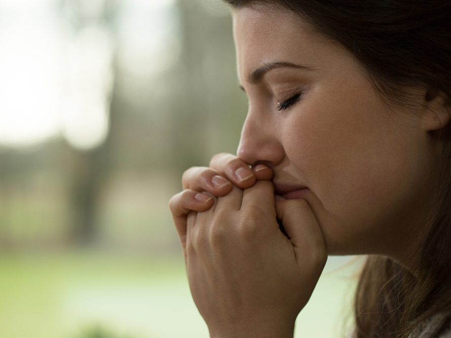 Woman dealing with binge-eating disorder