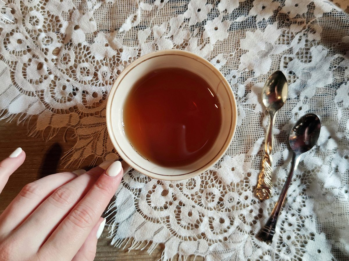 How to improve gut health - tea in a pretty teacup