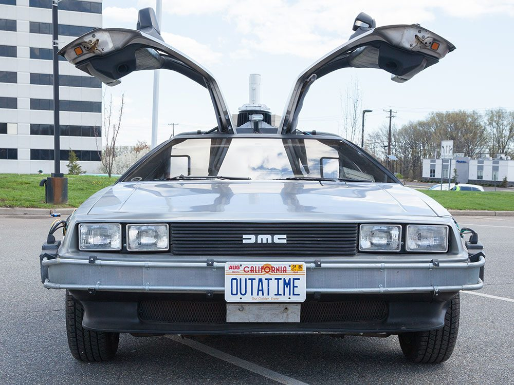 DeLorean car from Back to the Future