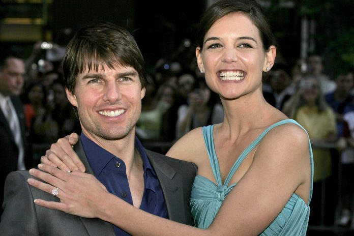 Tom Cruise and Katie Holmes at movie premiere