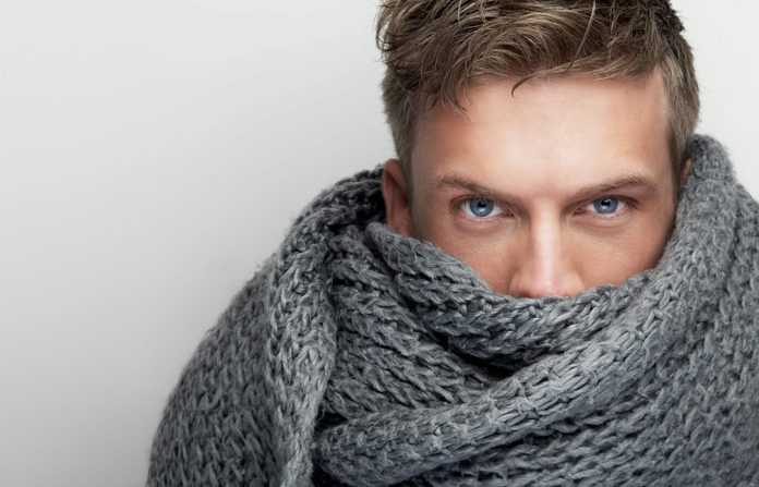 Man wearing scarf