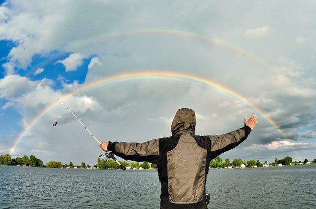 Rainbow across St. Lawrence River