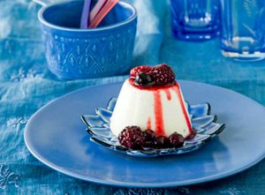 Buttermilk Puddings with Mixed Berries
