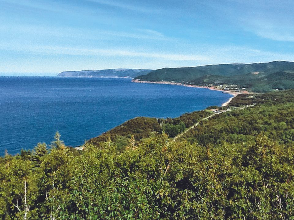 View from the Cabot Trail in Nova Scotia