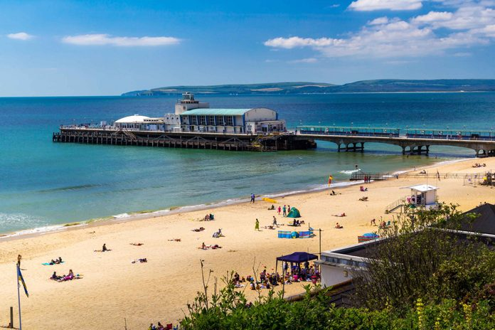Bournemouth Beach in England