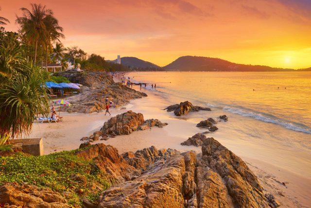 Patong Beach in Phuket, Thailand