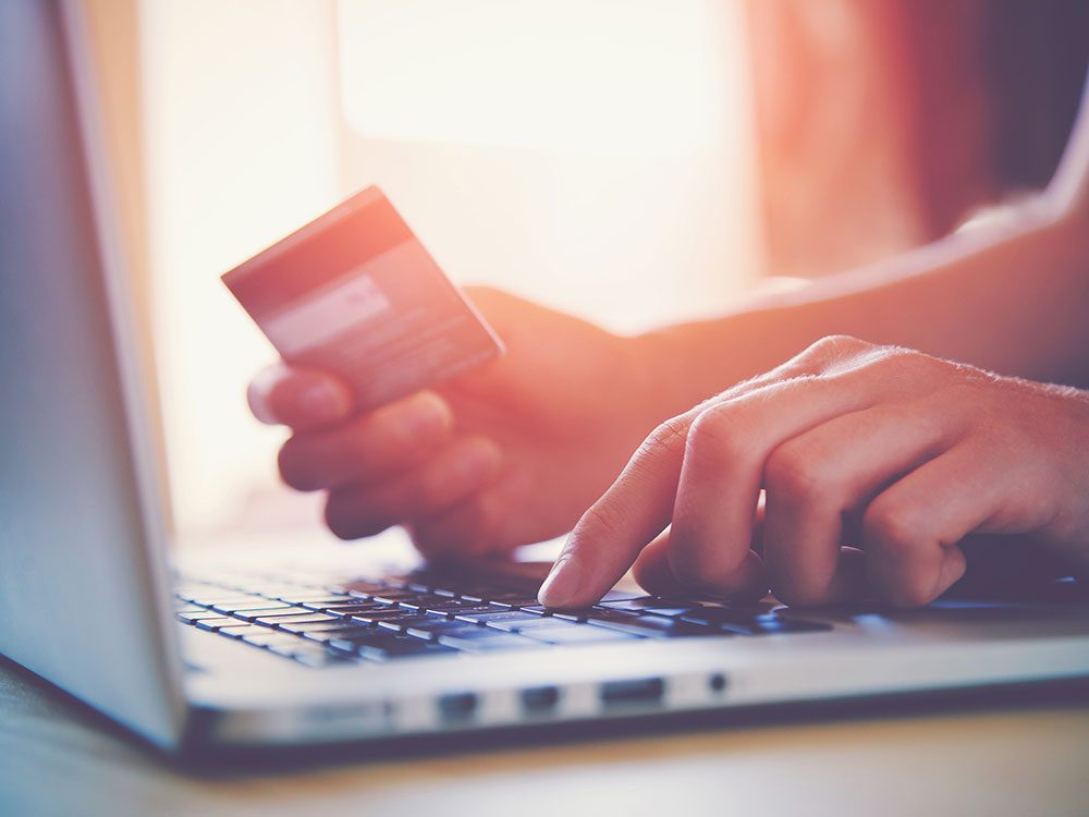 Credit card purchase online