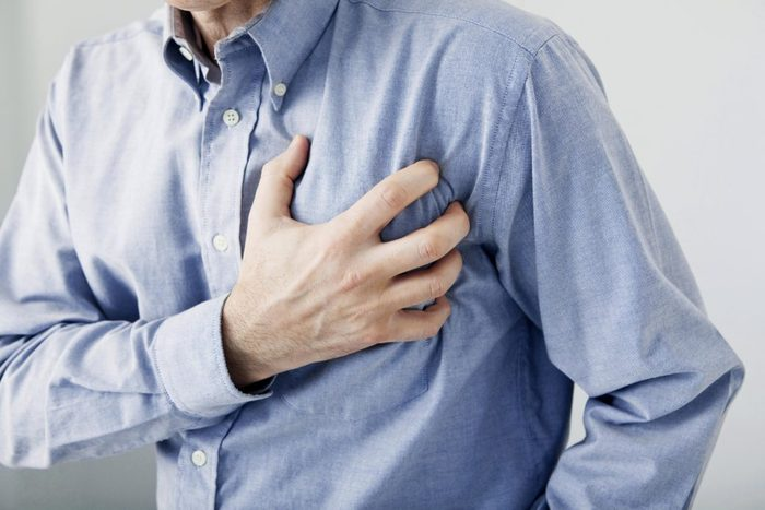 Man suffering from heart attack
