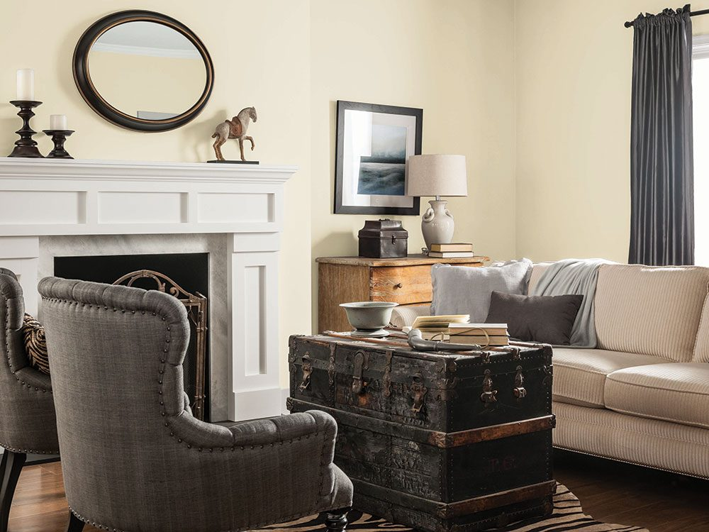 Living room in CIL's Cappuccino White