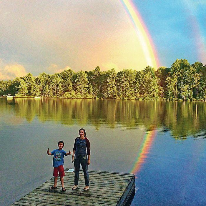 Rainbow at Lake Riley in Gravenhurst, Ontario