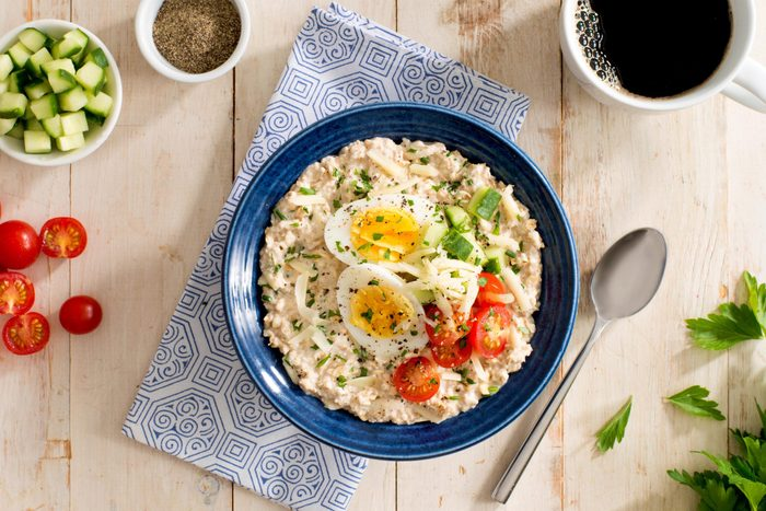 Savoury herbed oatmeal