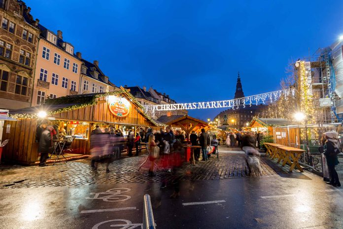 Christmas Market in Copenhagen, Denmark
