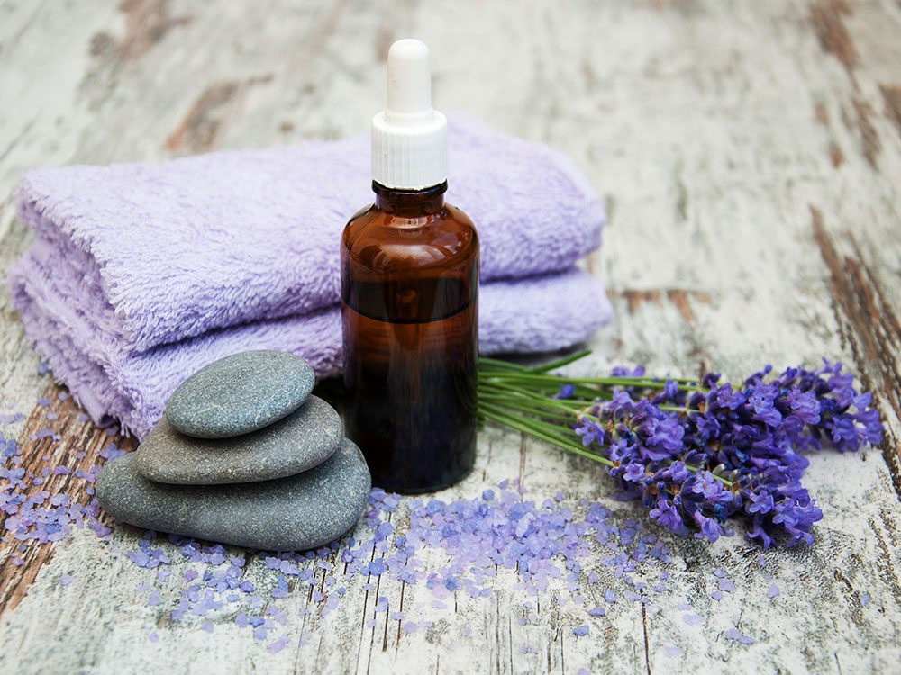 Lavender oil and other spa items