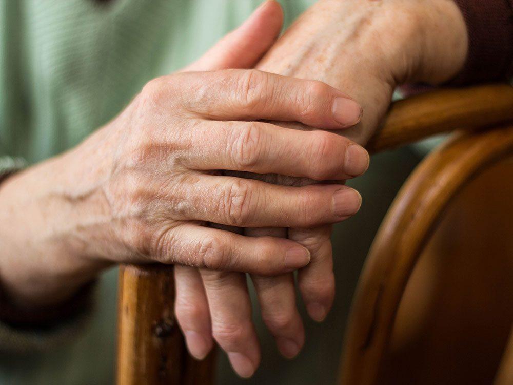 Senior women with arthritis