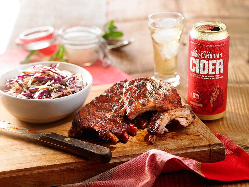 Molson cider and short ribs