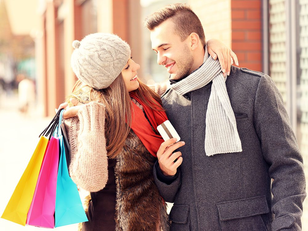Holiday shopping with credit card