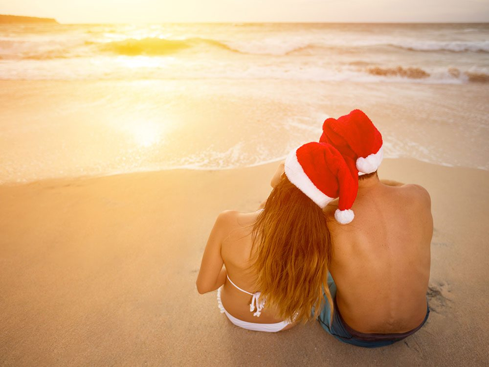 Couple spending holidays at the beach