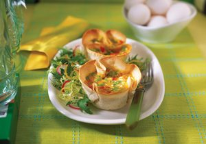 Egg-Filled Tortilla Cups