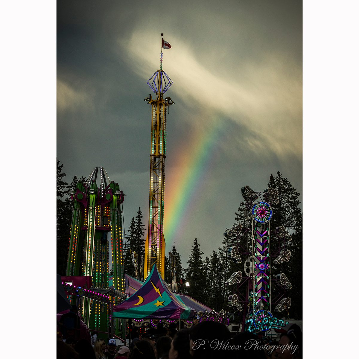 Grande Prairie Stompede rainbow photography