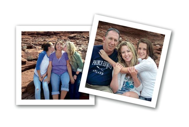 Karen MacCarville and her family on their visit to Prince Edward Island