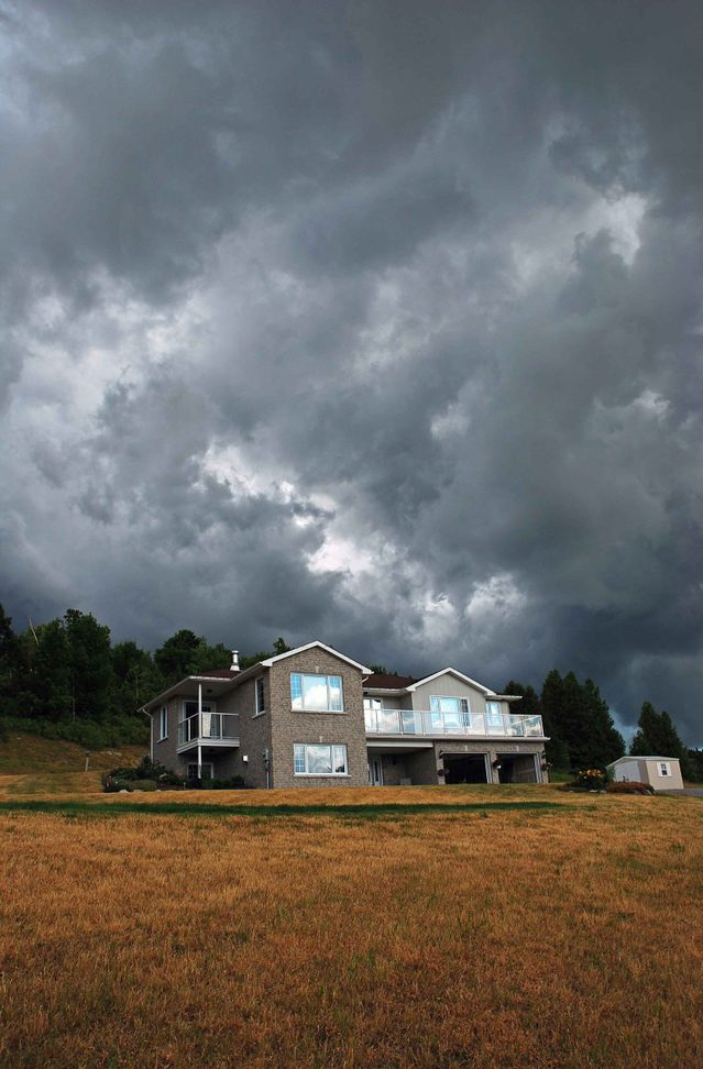 Storm clouds over home