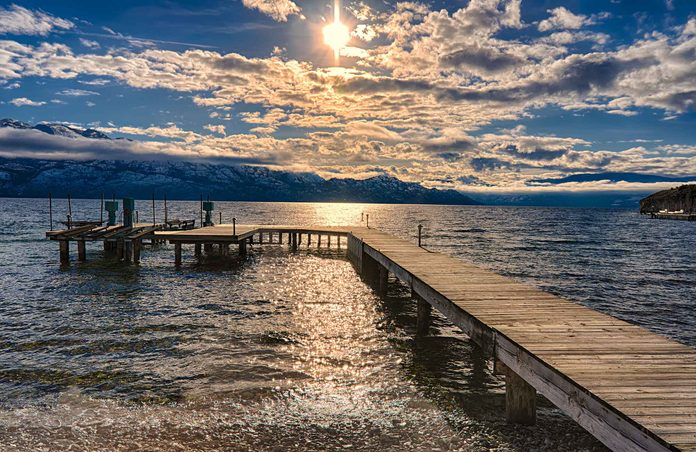 Okanagan Lake in Kelowna, British Columbia