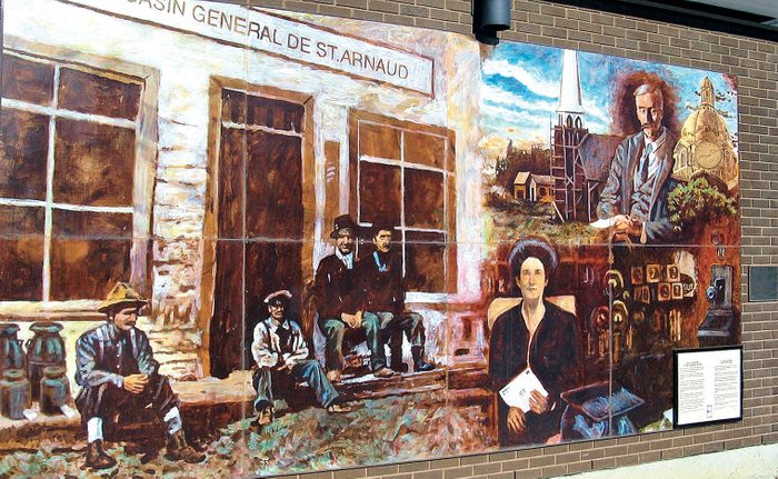 Murals in the town of Legal in Alberta