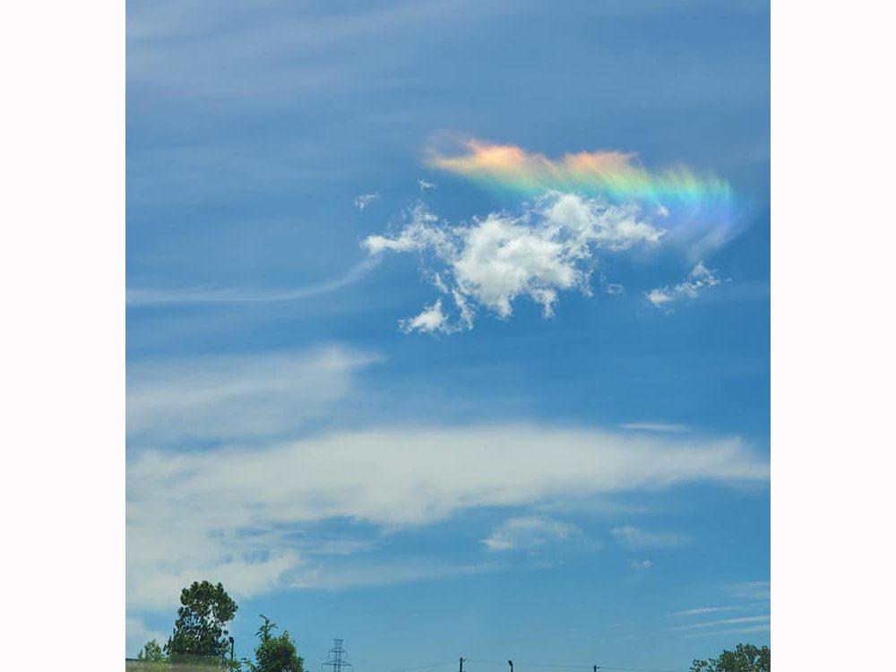 Rainbow photography - cloud rainbow