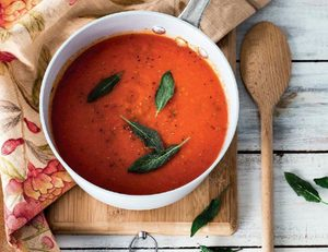 Roasted Red Capsicum and Tomato Soup