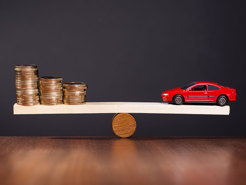 The value of a new car