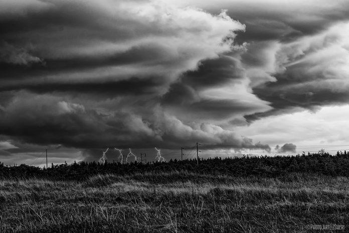 Spooky storm clouds over Newfoundland