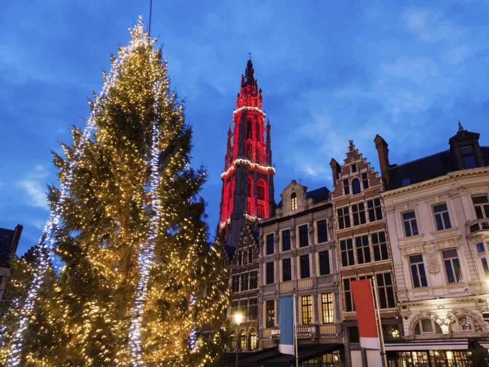 Christmas in Antwerp. Belgium