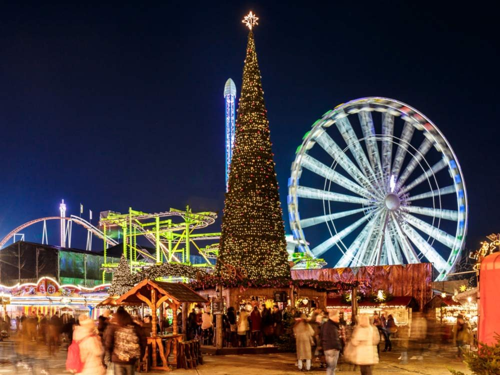 Christmas market in London, England