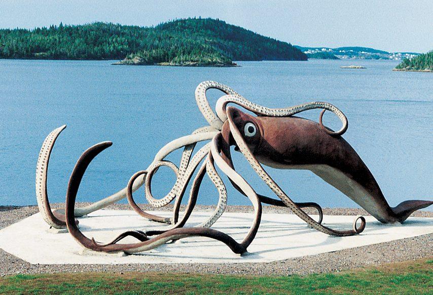Giant calamari replica