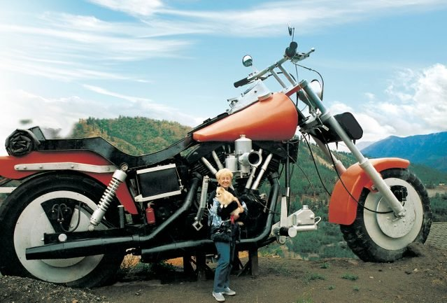 Giant motorcycle statue